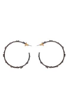 Black brass wired hoops