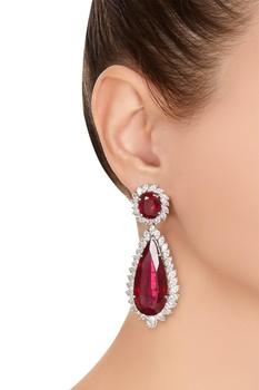 Marquise chandelier long earrings