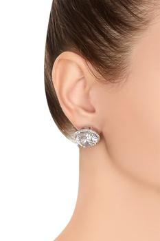 Swarovski stone stud earrings
