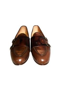 Dark brown d-monk strap loafers