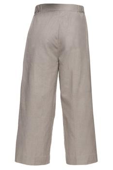 Grey khadi palazzo pants
