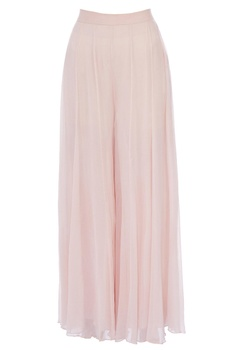 Pale pink chiffon pleated sharara pants