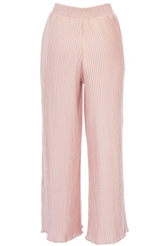 Pale pink pleated high waist pants