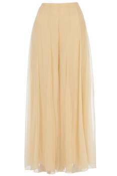 Beige chiffon pleated style sharara pants