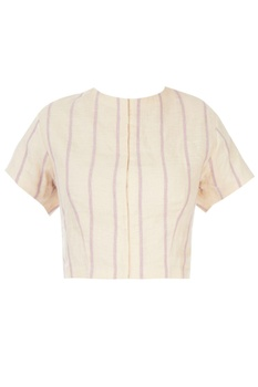 Off-white striped blouse