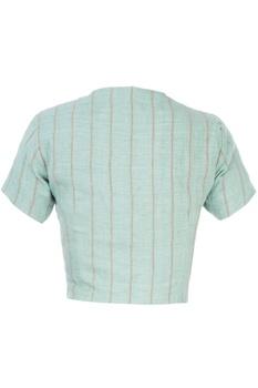 Light blue linen blouse