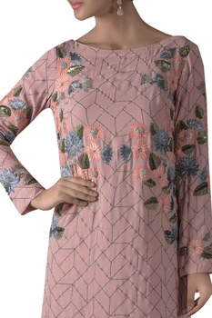 Embroidered Tunic With Flared Pants