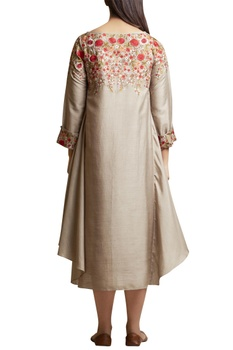 Dress with Embroidered Yoke