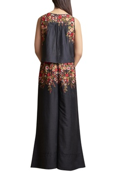 Embroidered Sleeveless Jumpsuit