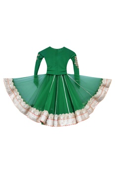 Embroidered blouse with lehenga..