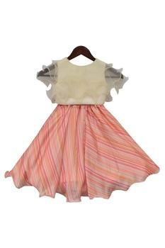 Striped lehenga with blouse
