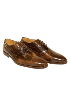 Dual Toned Lace Up Brogues