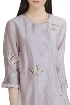Chanderi elephant motif applique tunic
