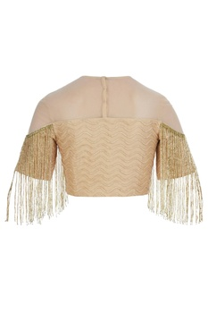 Tassel embroidered blouse.