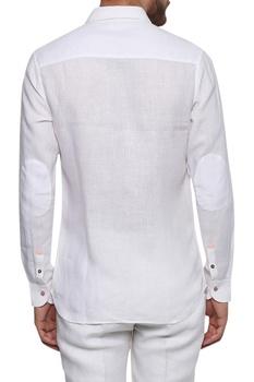Elbow patchwork full sleeve shirt