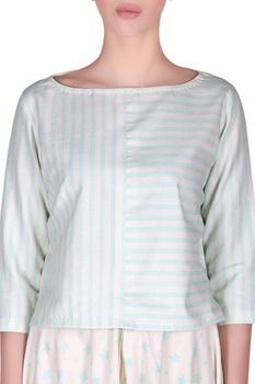 Striped crop top & dhoti pants
