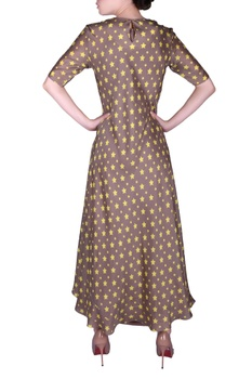Star printed double layer kurta