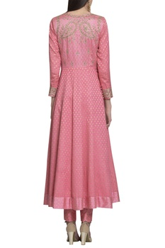 Brocade & zardozi embroidered anarkali set.