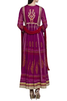 Gota embroidered anarkali set.