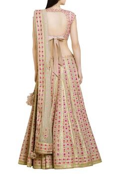 Gota & thread embroidered lehenga set