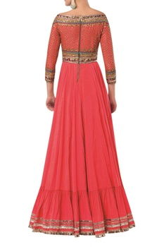 Embroidered anarkali style flared gown