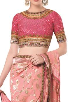 Banarasi silk saree with embroidered blouse