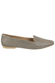 Glitter finish flat loafers
