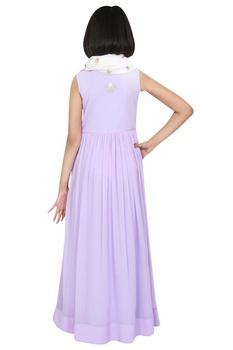 Floor length maxi dress with scarf
