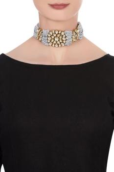 Kundan & beaded choker necklace