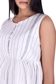 Midi dress with katha detail