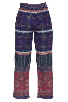 Kaleidoscopic printed straight pants