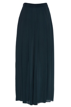 Flared pants with pleat detail