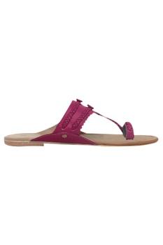 Braided strap kolhapuri sandals