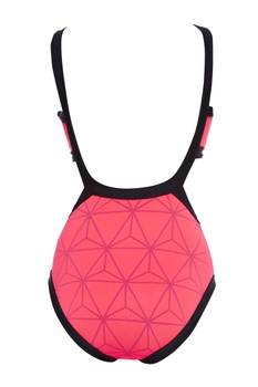 Neon cutout swimsuit with tie up
