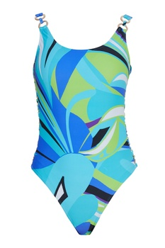 Tropical printed swimsuit