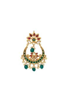 Chandbali meenakari painted earrings