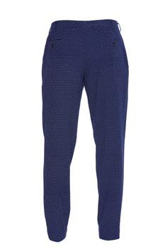 Micro print cotton trousers