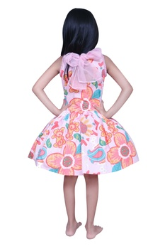 Floral printed frock with cancan