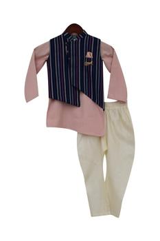Nehru jacket with kurta & churidar