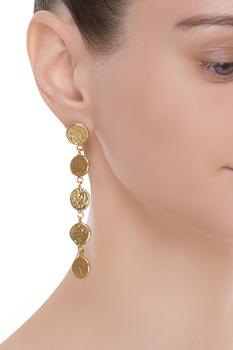Hand finished drop earrings
