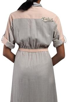 Front pocket elasticated waist dress