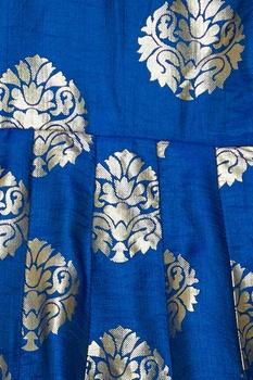Cold shoulder floral print gown