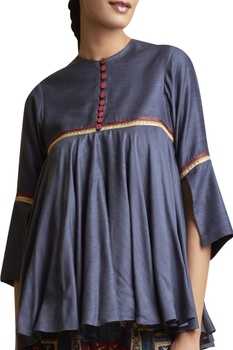 Embroidered kedia top with pants