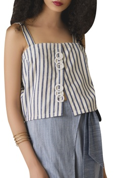 Cotton top with high waist pants