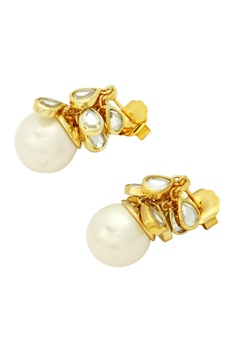 Paradise dew cluster pearl earrings