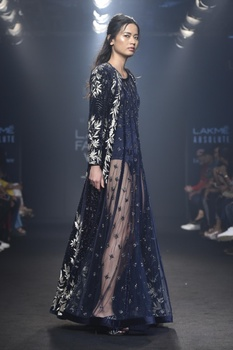 Sheer gown with jacket