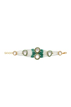 Pearl and kundan bracelet