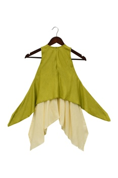 Asymmetric kurta with dhoti pants