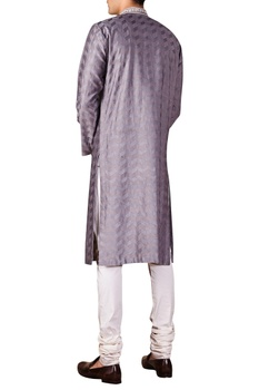 Chevron Embroidered Kurta