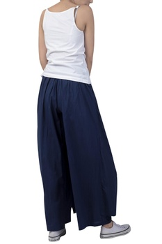 Box pleated draped pant